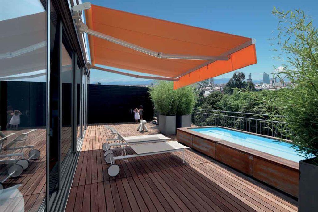 Tende da sole per esterni balconi e terrazzi metroarredo - Tende da sole per porte esterne ...